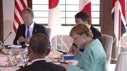 Japan: G7 leaders take breakfast with EU's Tusk and Junker summit kicks off