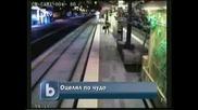 какво заснеха камери в метрото