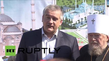 Russia: PM Aksyonov inaugurates work on Crimea's new main mosque