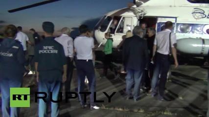 Russia: 7 Mil Mi-8 crash survivors land in Khabarovsk after evacuation