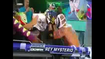 Wwe Raw 6.26.2009 Jeff Hardy and Rey Mysterio vs Chris Jericho and Edge мач в клетка 2/3