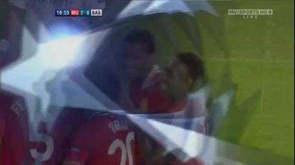 Манчестър Юнайтед 3 - 3 Базел Уелбек Втори Гол *hq*