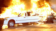 Mr. McMahon's limo explodes in a ball of flames: Monday Night Raw, June 11, 2007