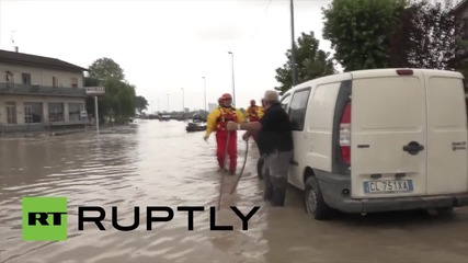 Italy: One dead, two missing after heavy rain hits Piacenza