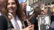 Russia: Normandie-Niemen descendants join Immortal Regiment march in Moscow