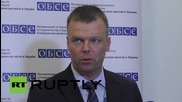 Ukraine: OSCE claim a military build-up on both sides of the line in east Ukraine