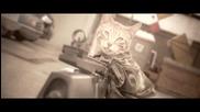 Коте + картечница= масово унищожение!