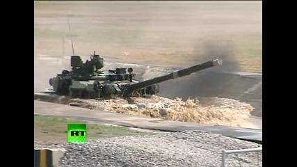 Зашеметяващи изпълнения на танкове T90