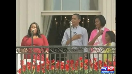 Glee at the White House - National Anthem (веселие за Белият Дом)