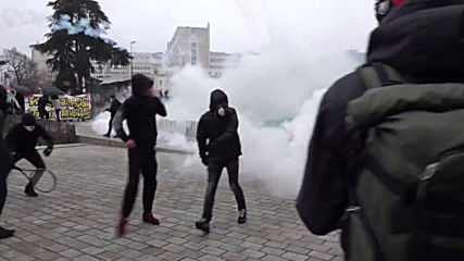 France: Police fire tear gas as pension reform protest turns violent in Nantes