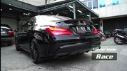 Loud Revs! Mercedes-benz Cla45 Amg with Armytrix Decatted Performance Valvetronic Exhaust System