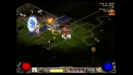Diablo 2 - Ww Barb Vs Bone Necro