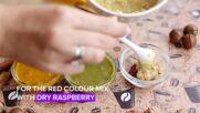 DIY Vegan colourful chocolate