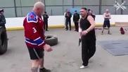 Корав мъж показва как да се защитваме и да отвърнем на удара когато ни нападне някой.