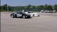 Buttsy Butler drifting around Bugatti Veyron