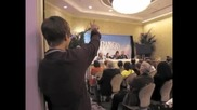 Justin Bieber Crashes Rango Press Conference