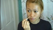 Как да си направим естествен грим Contouring With Concealer (cover up Routine)