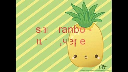 Японски речник - Плодовете . Озвучено ^^
