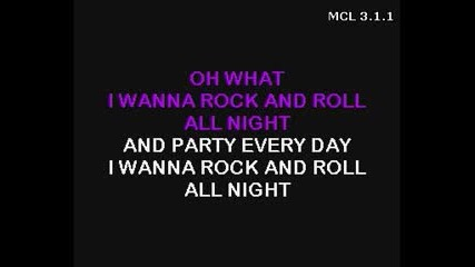 Kiss - Rock N Roll All Night(unplugged) Karaoke
