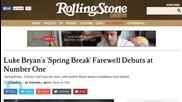 Luke Bryan's 'Spring Break' Keeps Fans Warm Debuting at Number One