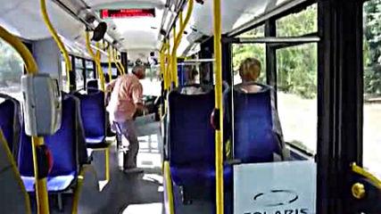 Varna- inside the trolleybus Skoda 26 Tr no. 307 route 86via torchbrowser.com