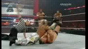 Triple H Rey Mysterio and Edge vs Cm Punk Chris Jericho and Luke Gallows part2/3