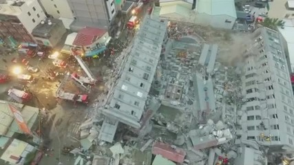 Дрон засне потресаващи кадри след земетресението в Тайван (ВИДЕО)