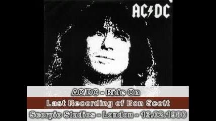 Ac/dc - Ride On - Last Recording of Bon Scott - 13.02.1980