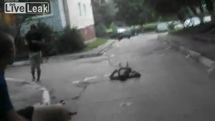 болезнен нокаут на улицата