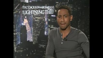 Percy Jackson Interviews - Logan Lerman, Alexandra Daddario, Brandon T. Jackson And Pierce Brosnan