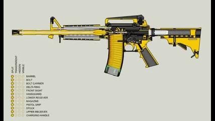 как стреля M-16