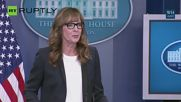 West Wing's 'C.J. Cregg' Crashes White House Press Briefing
