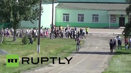 Ukraine: Residents pay their respects at church near MH17 crash site