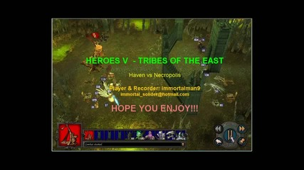 Heroes V - Tribes of the East - Haven vs Necropolis - by immortalman9.avi