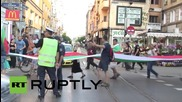 Bulgaria: Anti-TTIP protesters march through SOFIA