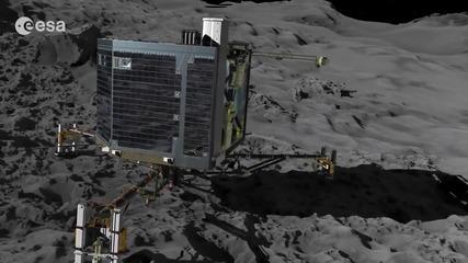 Днес спускаемият модул Philae на сондата Розета (Rosetta) трябва да кацне в участък J от кометата 67