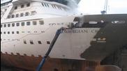 Няма невъзможни неща! Удължаване на круизен кораб в корабостроителницата в Хамбург, Timelapse