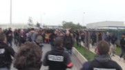 France: Riot police rife as Ethiopian 'Jungle' inhabitants protest during eviction