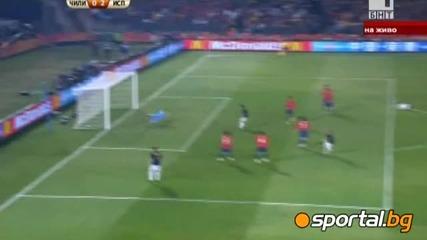 Чили 1:2 Испания ... победа за Евро шампиона ...