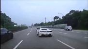 Откачен авто джигит с Ferrari предизвиква катастрофа на магистрала !