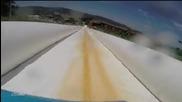 Спускане по най-дългата водна пързалка