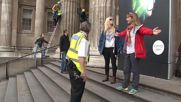 UK: Greenpeace activists scale British Museum in protest over BP sponsorship