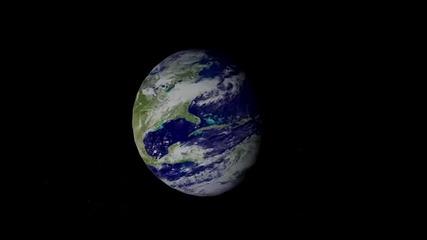 Земята и Луната - 3d Анимация