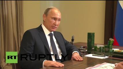 Russia: Putin talks Navy's anti-IS airstrikes, Syria's
