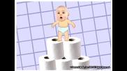 Смешно бебе тренира за...:d:d