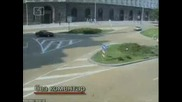 Запис от камерите по кръстовищата в София