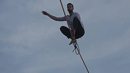 France: Slackliner Paulin completes 600-metre walk from Eiffel Tower in front of amazed crowds