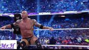 Randy Orton vs Batista vs Daniel Bryan Wrestlemania 30 Highlights
