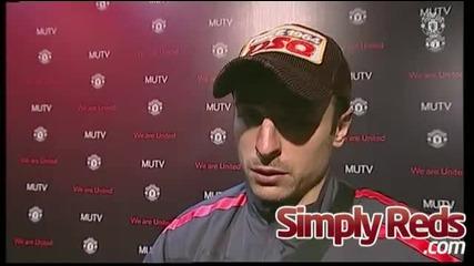 Интервюто с Бербатов след мача Manchester Blackburn 7:1