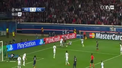 Psg vs Chelsea 3:1 (lavezzi, Luiz[o.g.], Pastore - Hazard)